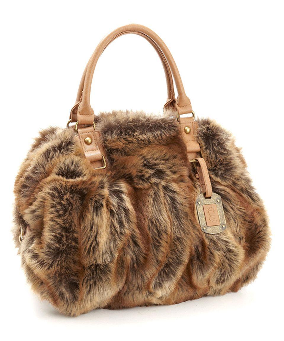 bc4e667b856d Donna Salyers  Fabulous-Furs Coyote Faux Fur Bowler Tote by Donna Salyers   Fabulous-Furs  zulilyfinds