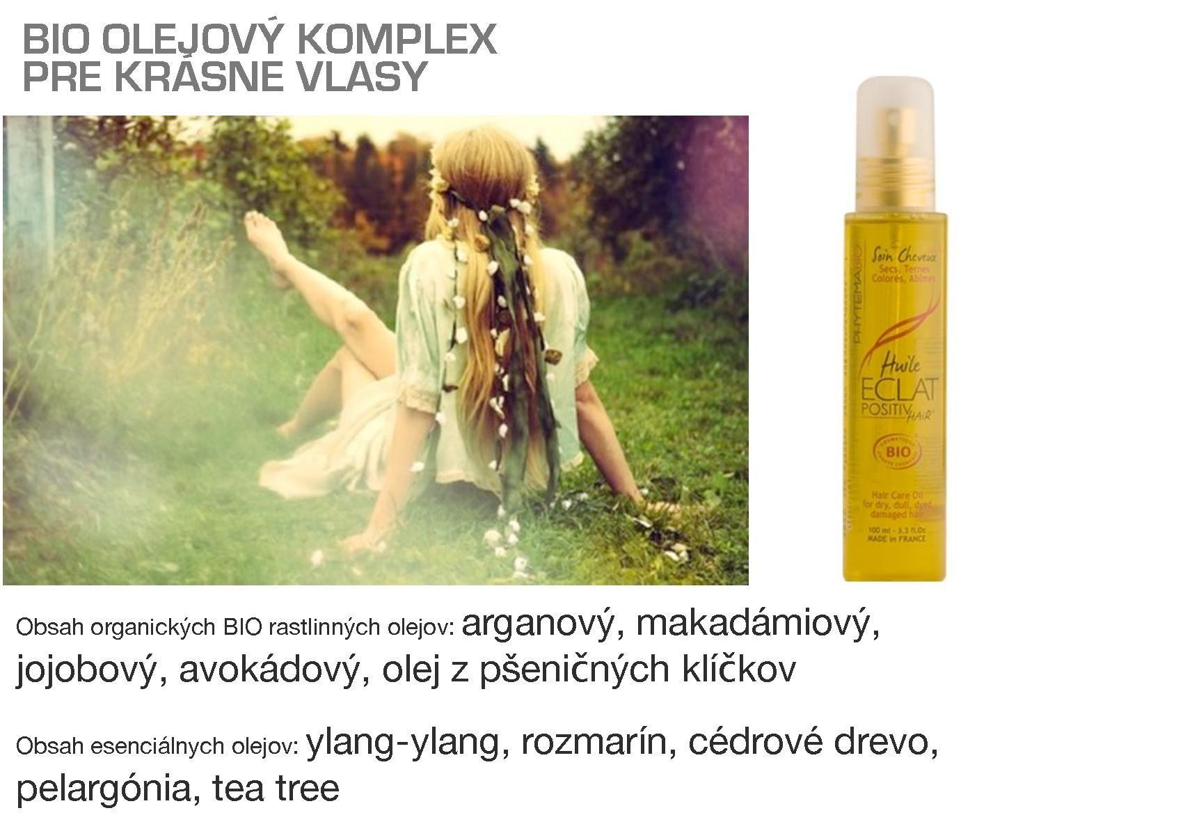 Bio olejový komplex pre krásne vlasy