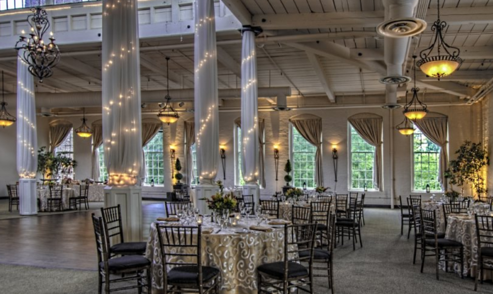 Our Beautiful Great Room Historic Savage Mill Gorgeous Wedding Set Up Maryland Wedding Caterer Putting On The Beautiful Bedrooms Wedding Set Up Great Rooms