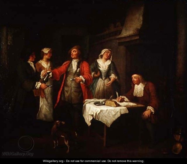 The Marriage Contract - Jan Josef, the Elder Horemans - marriage contract