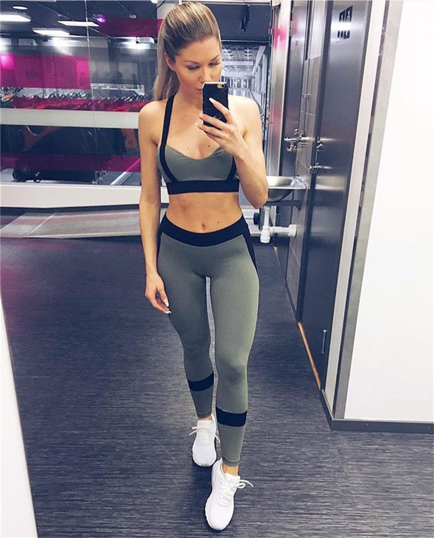 838233e446  47.58 - Nice Ayopanda Hot Sale 2Pcs Set Women Yoga Sets Fitness Seamless Sports  Bra Yoga Pants Legging Gym Workout Jogging Dance Sports Wear - Buy it Now!