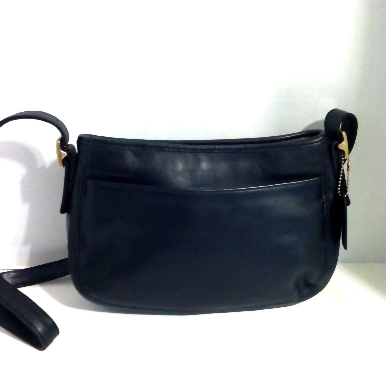 eff243ebb611  58 Vintage Coach Bags Black Leather Bag Coach Handbag Coach Crossbody Bag  Shoulder Bag Designer Handbags Retro Coach Purse Adjustable Strap by ...