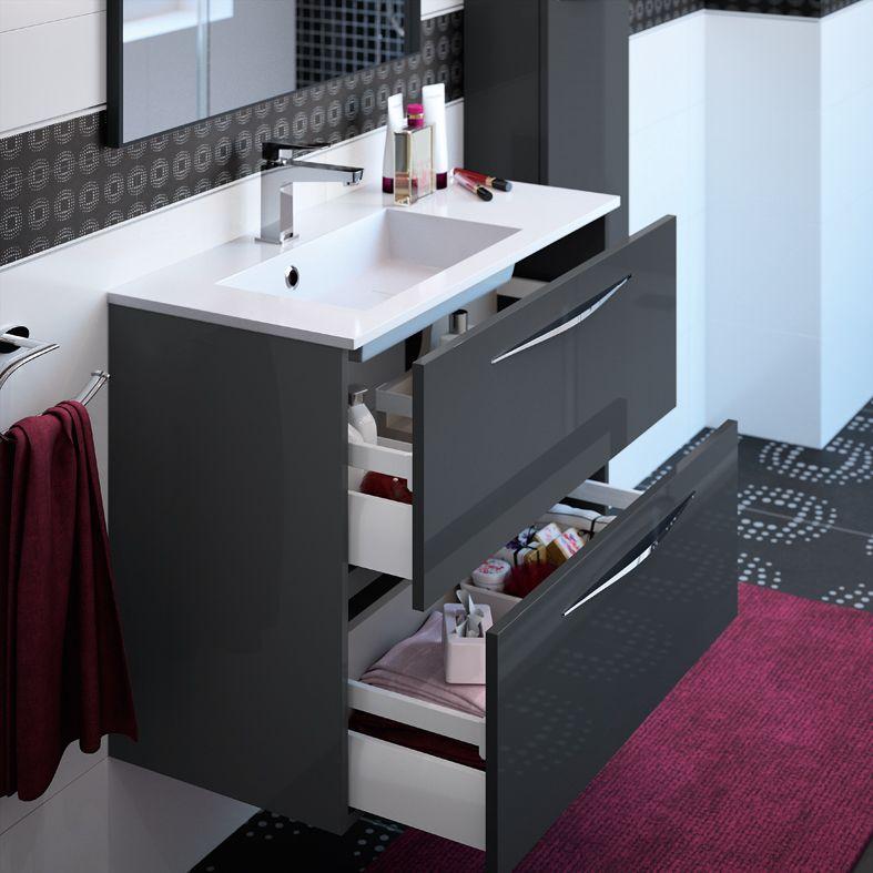 Plan Vasque En Marbre Reconstitue Brillant Faible Profondeur Cedam Disponible En Largeur 60 80 120 Meuble Salle De Bain Meuble Haut Salle De Bain Meuble Vasque