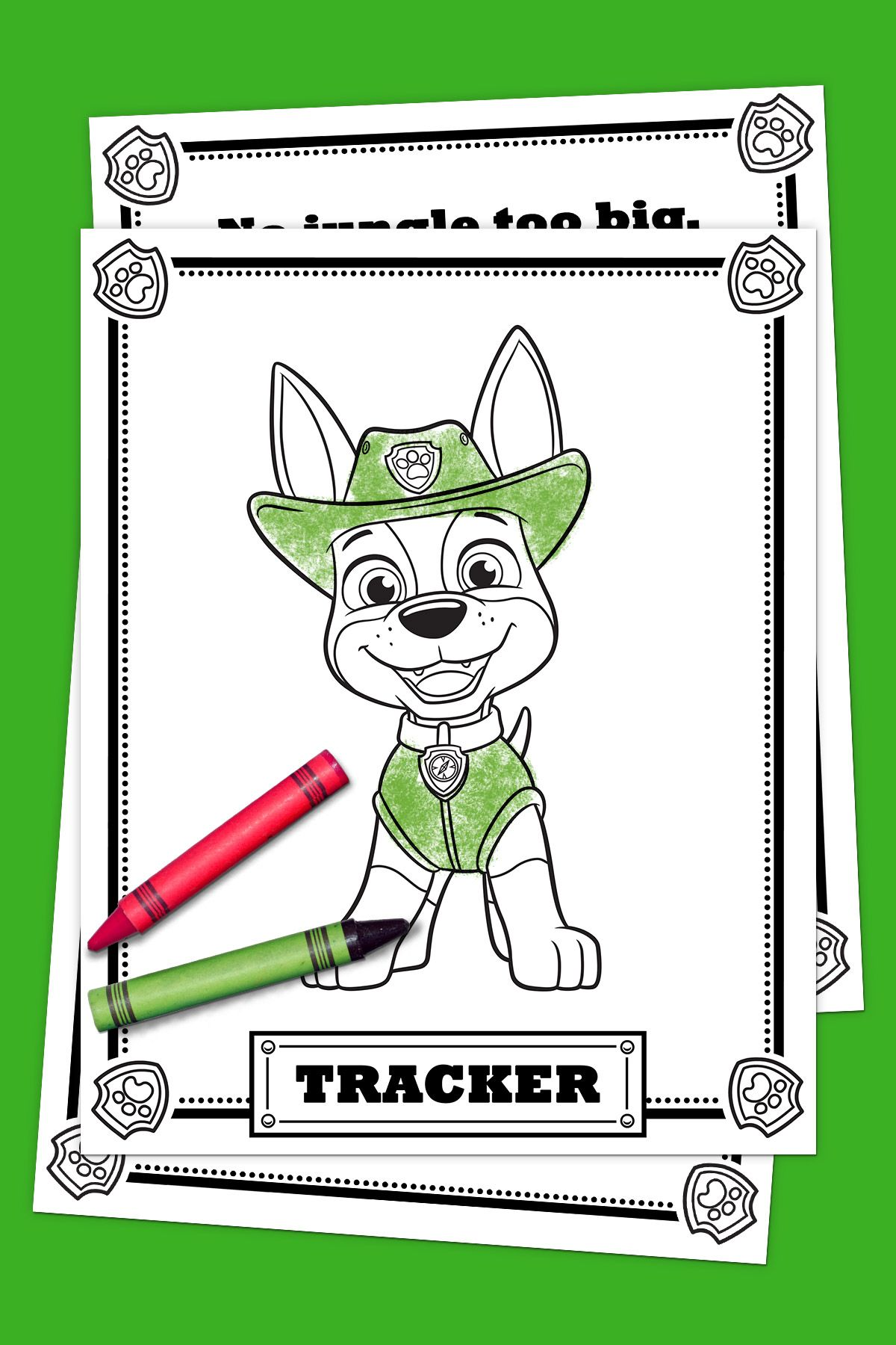Paw Patrol Tracker Coloring Pack Paw Patrol Coloring Paw Patrol
