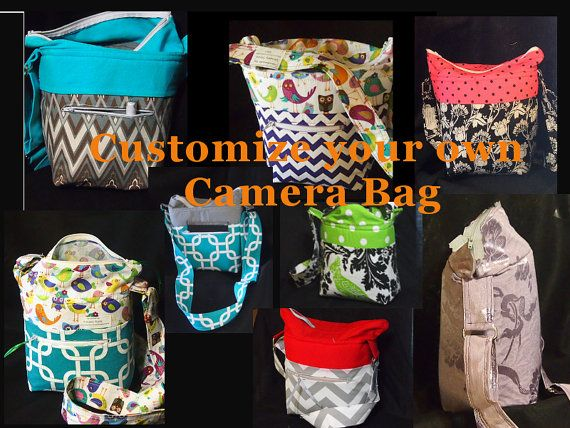 DSLR Camera Bag.. You Customize... 6W 5D 10T.. Holds Nikon Canon Sony Olympus.. Build your own Camera Case.. Monogram.. pockets, divider #camerapurse