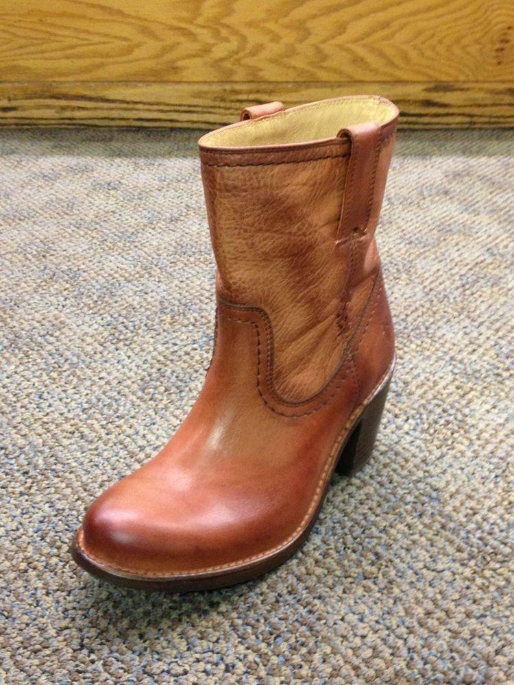 Women/'s Frye Boots Carmen X Stitch Short Tan Saddle Leather 76203 SDL