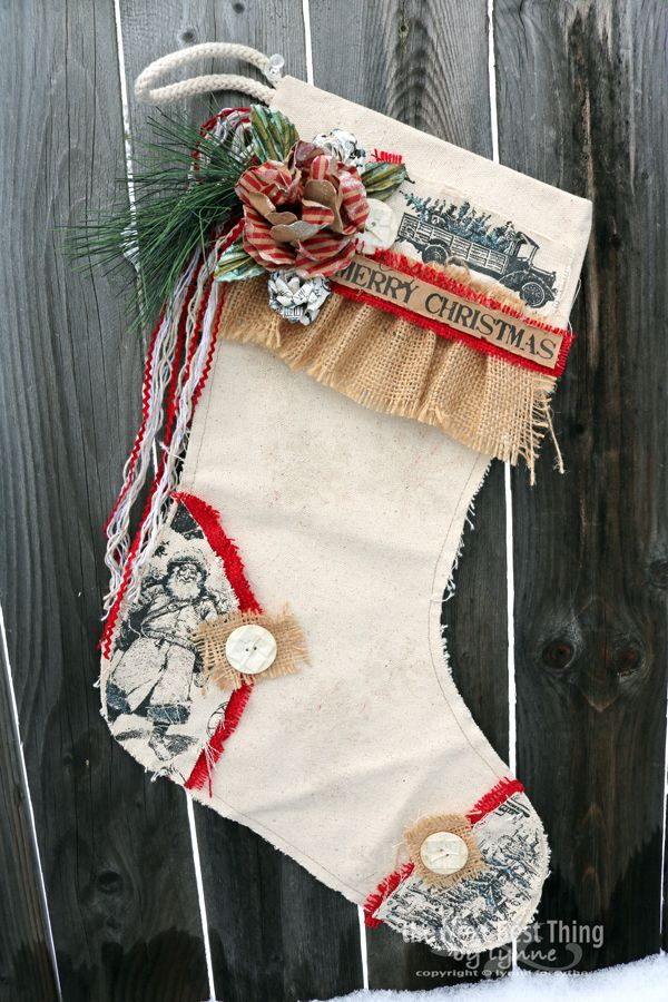 Merry Christmas Stocking by Lynne Forsythe