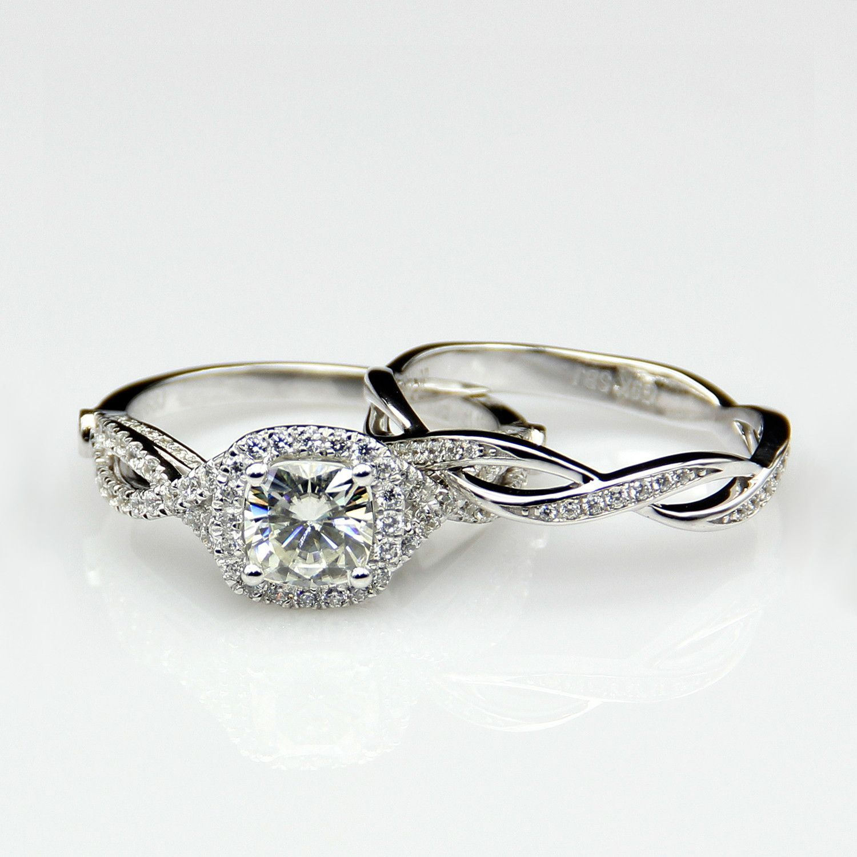 Criss Cross 1.1ct Wedding Set Wedding sets, Diamond