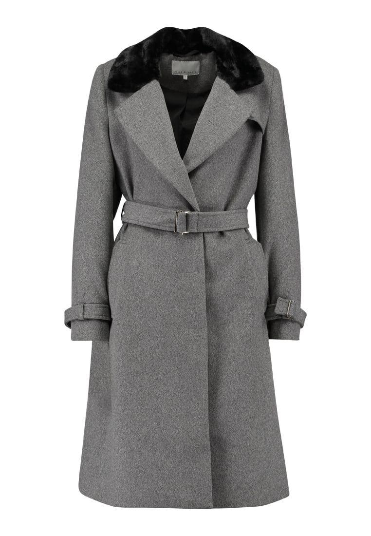 Mint Berry Wollmantel Klassischer Mantel Grey Wollmantel Mantel