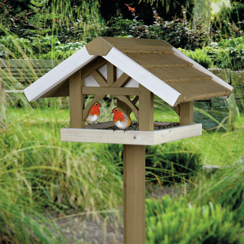 Birdhouse constructed of wood bird house design free standing bird - Wooden Bird Feeders To Paint