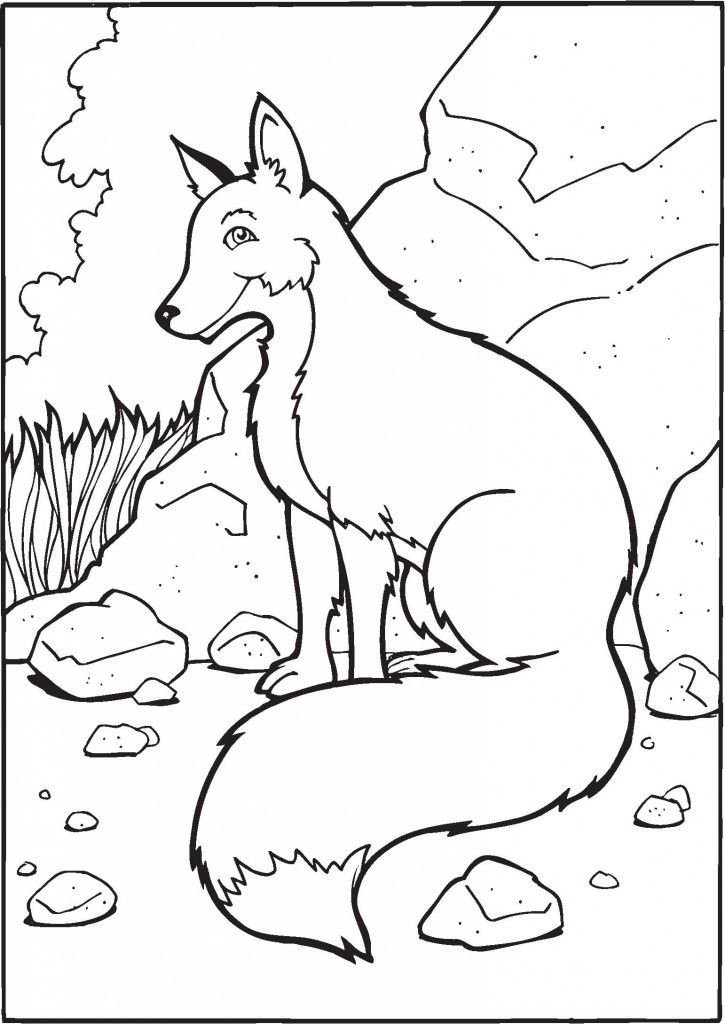 Fox Coloring Pages for Kids Animal Coloring Pages Pinterest