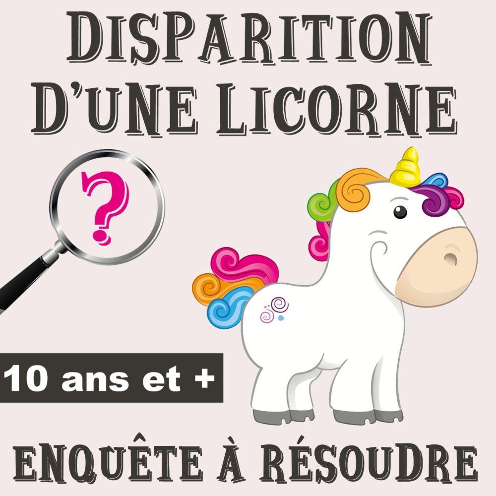 Disparition d'une licorne marmaille Jeu anniversaire