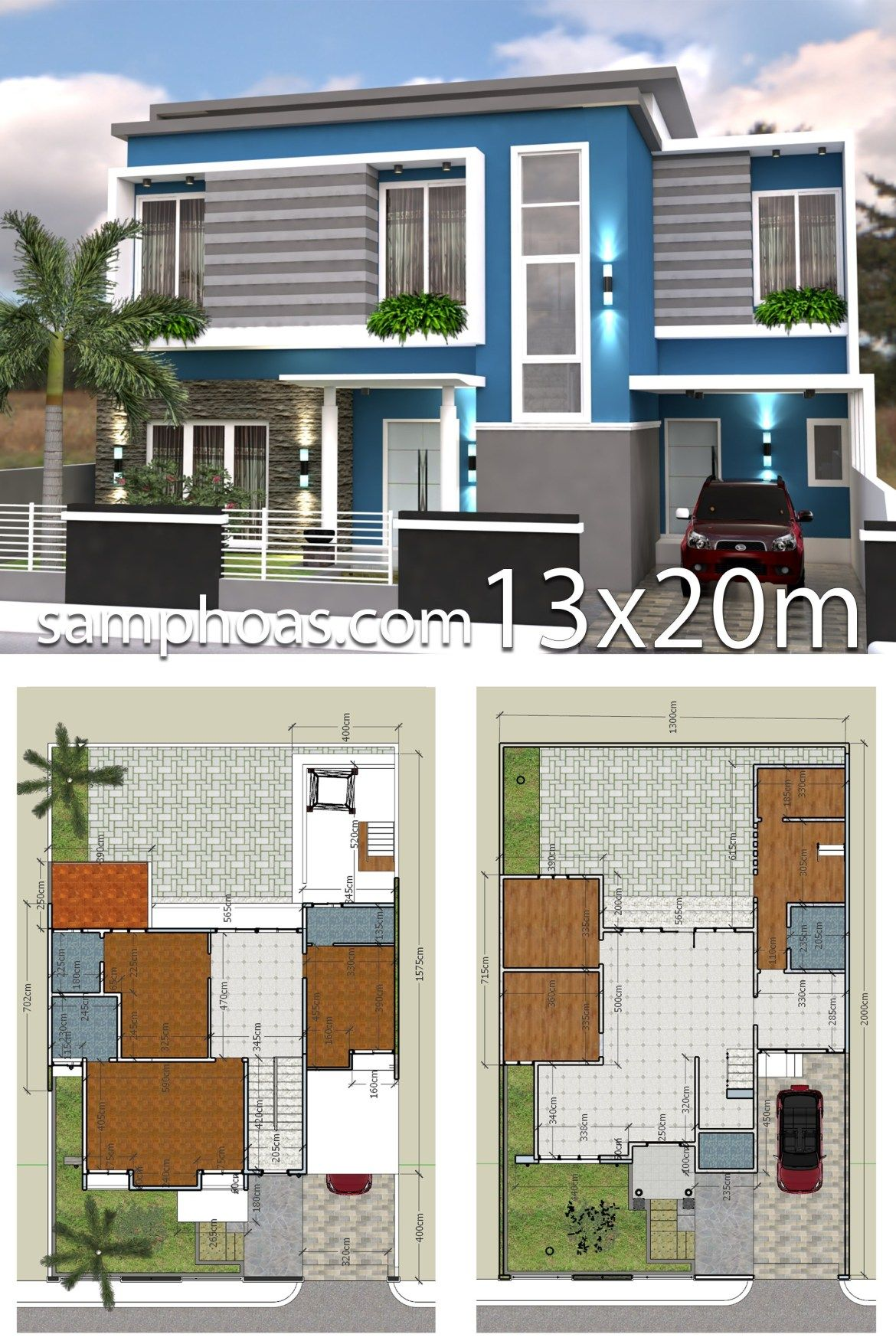 3d Home Design Plan 13x20m with Full Plan 6 Bedrooms ...
