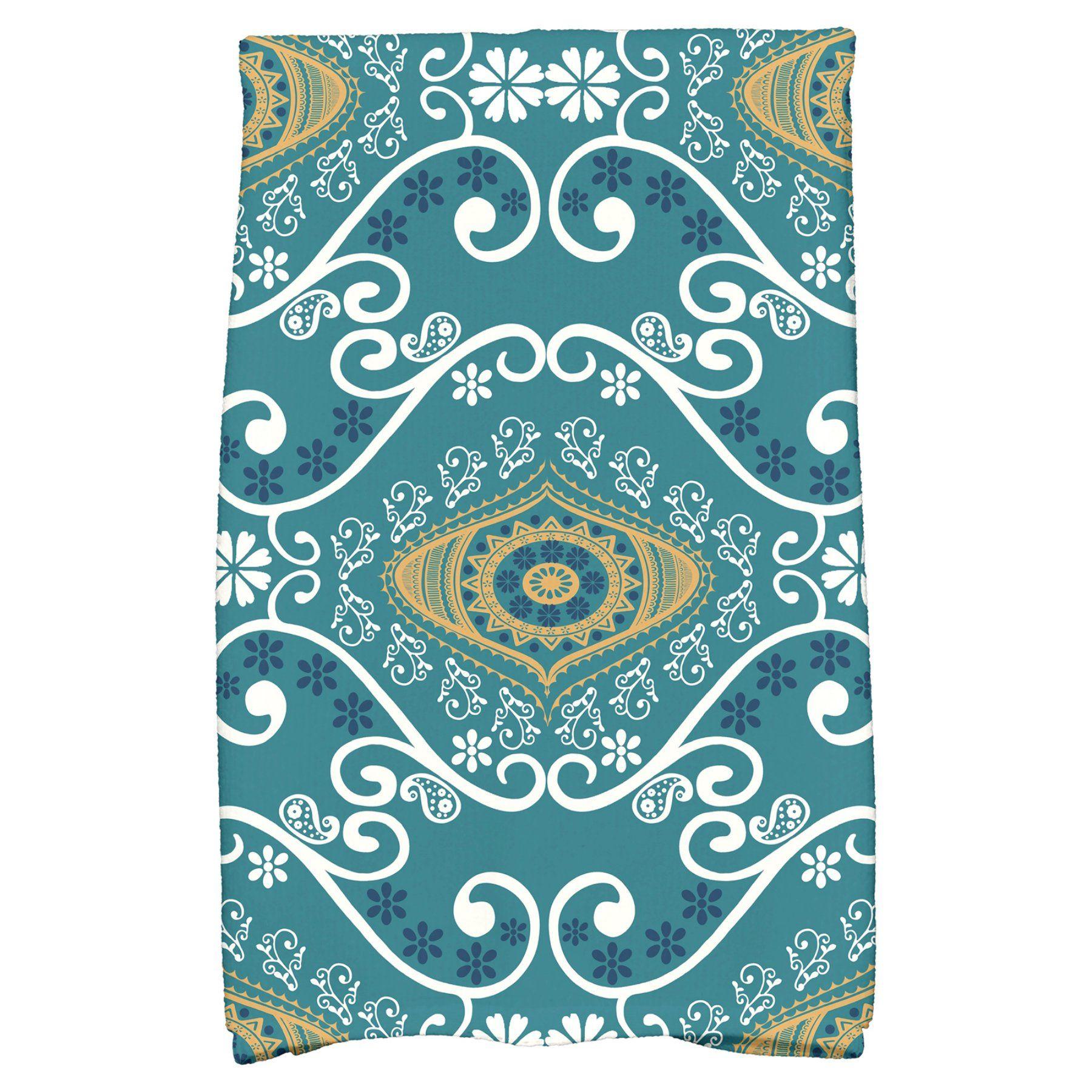 E by Design HH Revival Illuminate Kitchen Towel - KTGN727BL37 ...