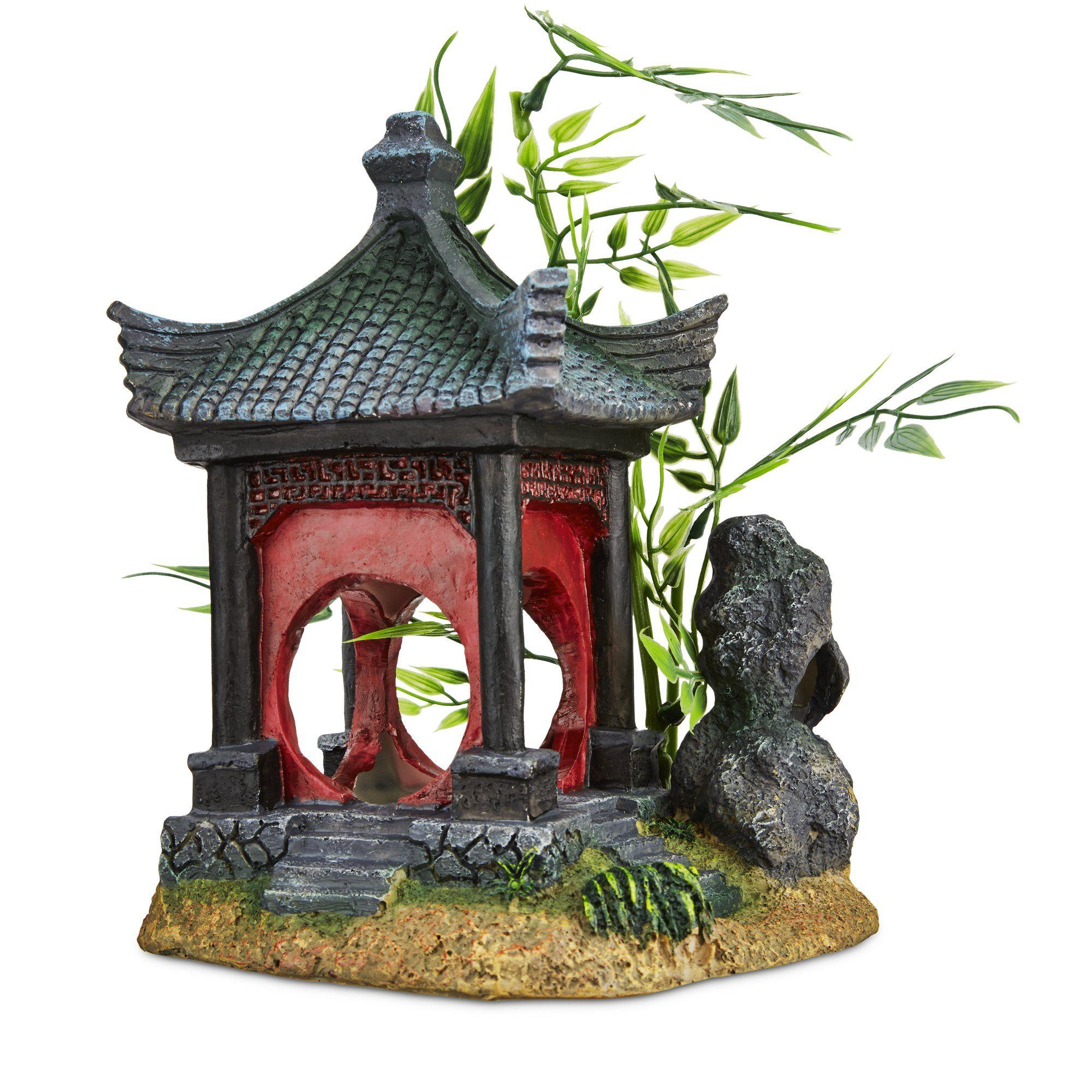 Imagitarium Asian Gazebo With Bamboo Ornament Https Www Petco Com Shop En Petcostore Product Imagitarium As Fish Tank Decorations Dragon Decor Fish Tank