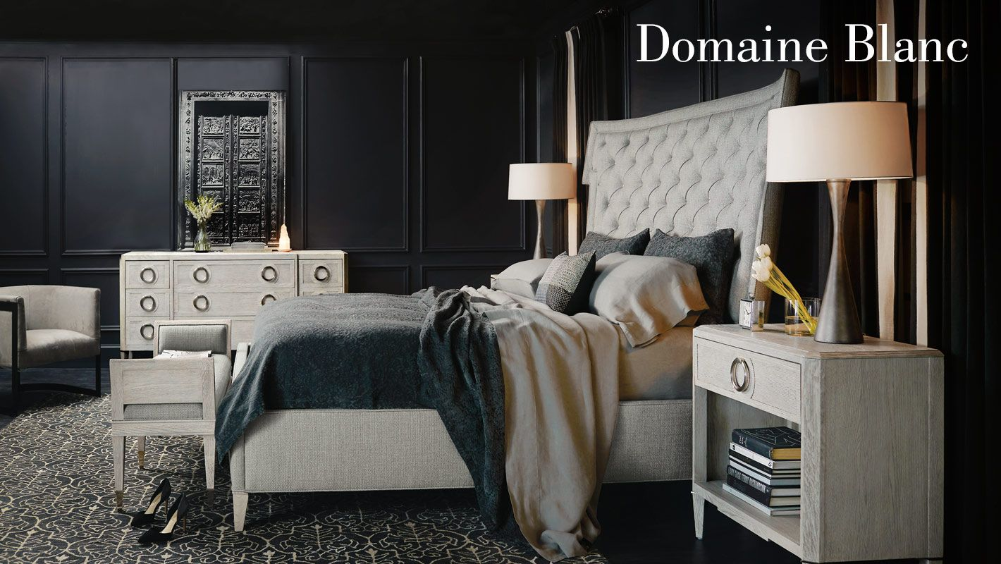 Domaine Blanc Bedroom Items Bernhardt Upholstered Beds