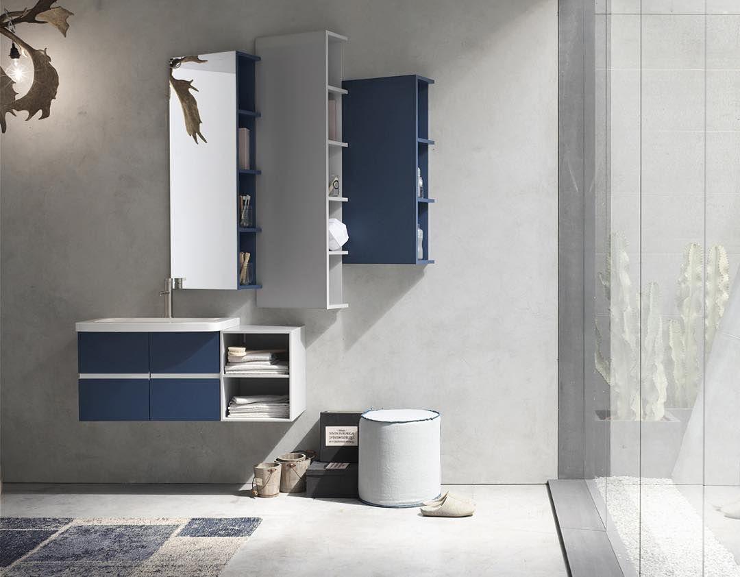 Perfect La Palette Automnale Selon Arcom Arredobagno : Bleu Orion Et Gris Chaud  Avec Quelques Touches Blanches