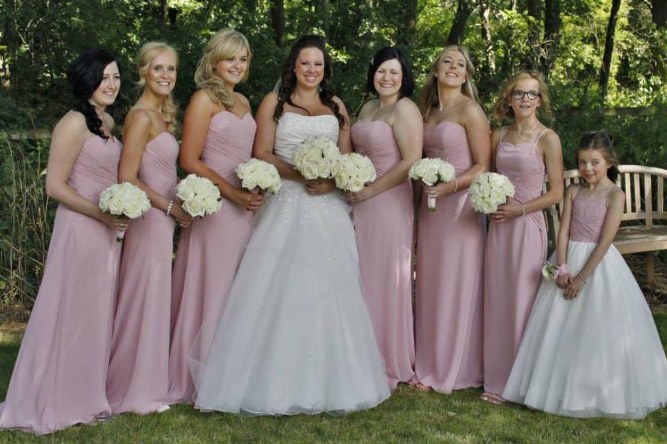 Amanda Wyatt Bridesmaid Dresses And Ronald Joyce Wedding Dress Flowers By Amaryllis Of Ossett