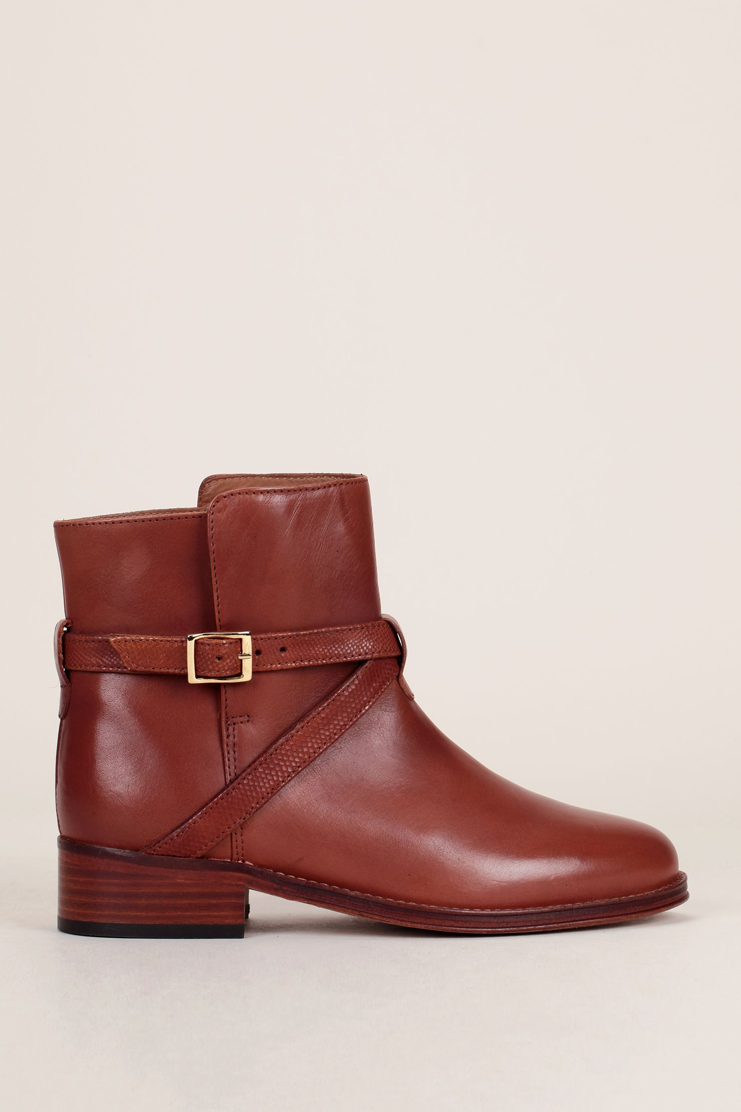 Bottines cuir cognac liens croisés L'invincible - Bobbies