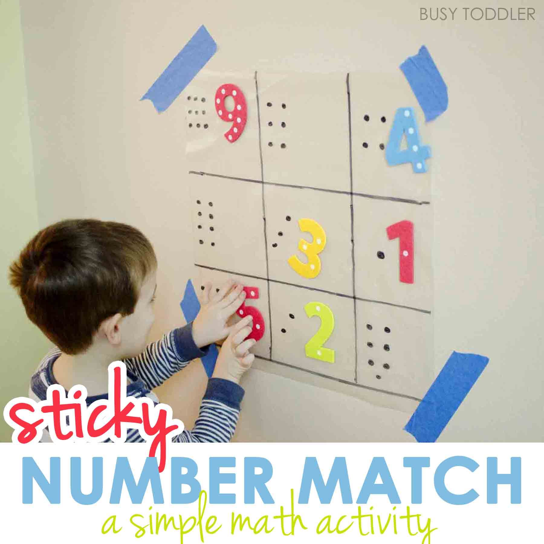 Sticky Number Match | Simple math, Math activities and Math