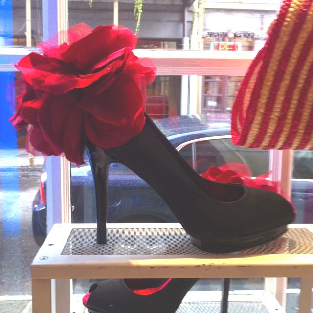 Shoe in New Orleans store - too cute!
