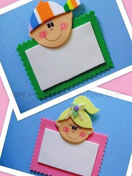 Famosos Ensinando com Carinho: Crachás feitos de EVA com moldes … | Pinteres… NQ37