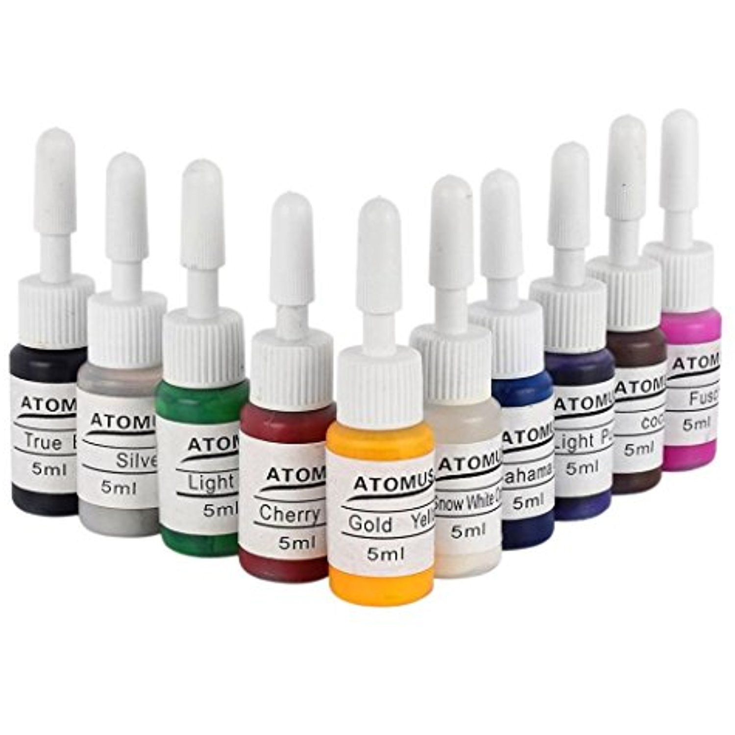Body tattoo makeup microblading 10 colors ink pigment set