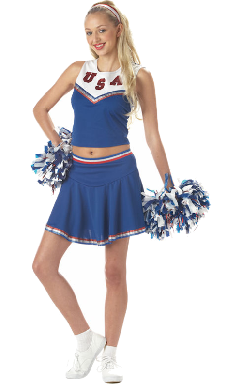 45eff7fe7 Adult American Cheerleader Costume | Halloween | Cheerleader costume ...