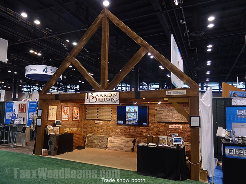 show displays trade show booths wood display stone veneer booth ideas