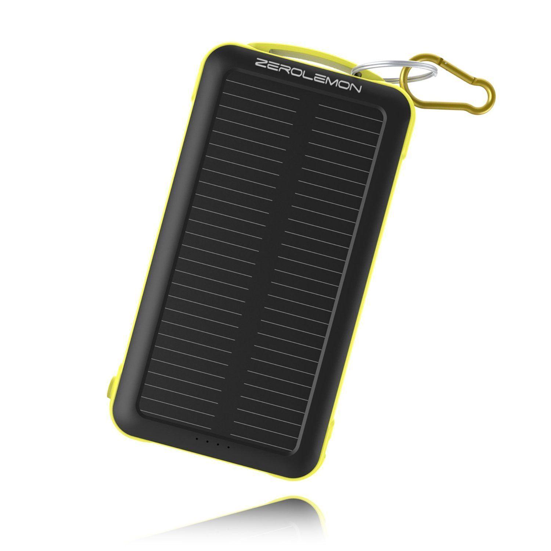 zerolemon solar powered external battery led flashlight and products