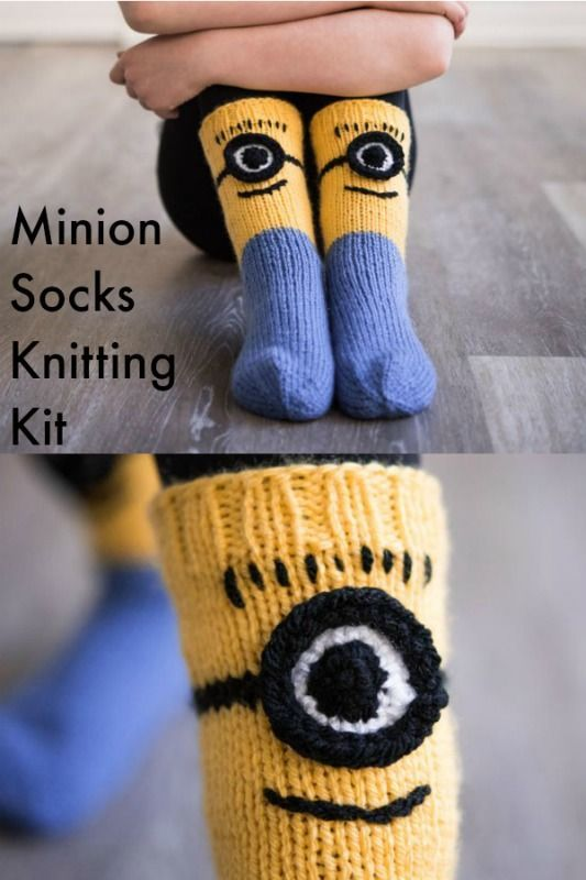 Minion Socks Knitting Kit With Tamara Kelly Pattern By Sunne Meyer