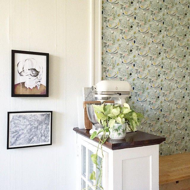 wallpapered my kitchen