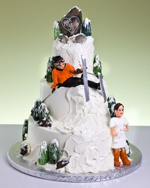 Skier Cake Topper Uk