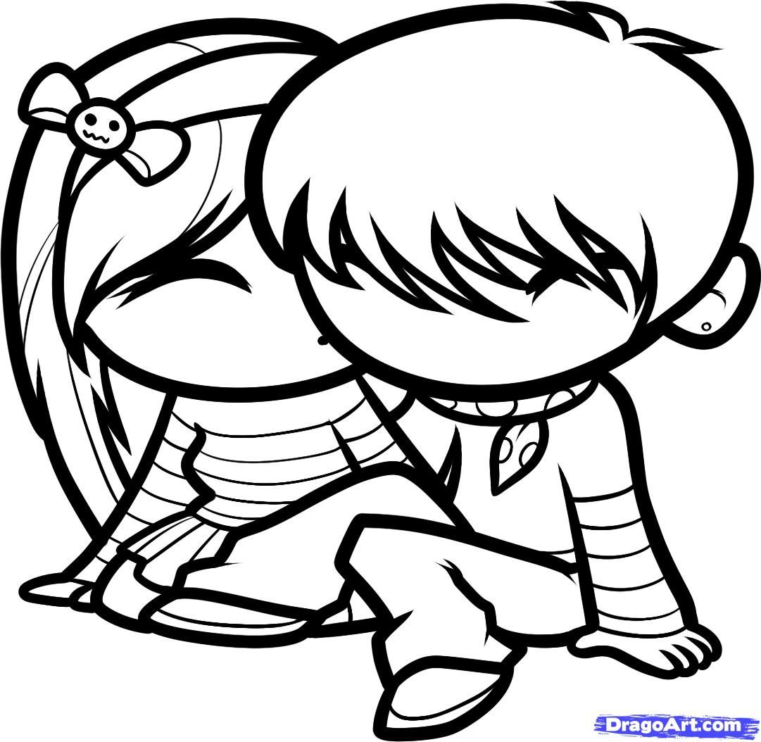 Cute Love Drawings How To Draw Cute Love Cute Love Step By Step People For Kids Love Coloring Pages Cute Coloring Pages Cartoon Coloring Pages