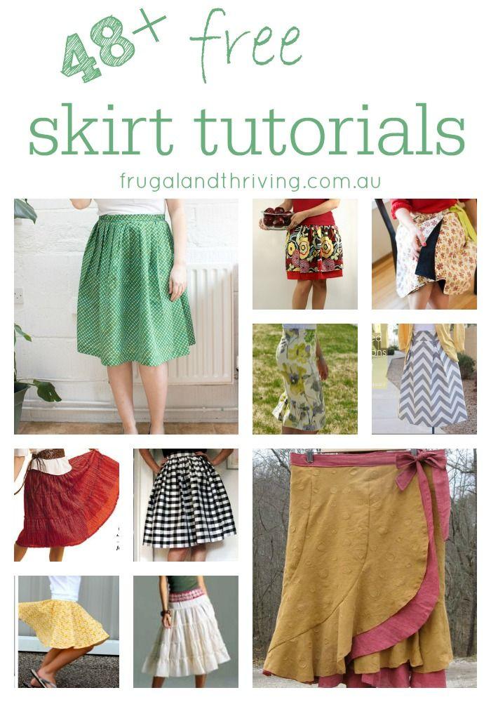 48 + Free Skirt Tutorials to Make | Pinterest | Nähen, Handarbeiten ...