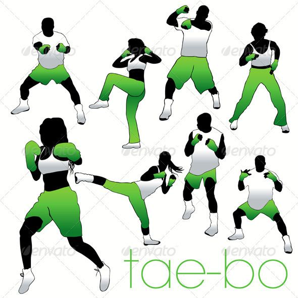 Tae-Bo Silhouettes Set  #GraphicRiver         Silhouettes set of 8 athletes. Can be used for decoration of the gym.     Created: 5September11 GraphicsFilesIncluded: JPGImage #VectorEPS Layered: No MinimumAdobeCSVersion: CS Tags: aerobics #athletic #attractive #beautiful #boy #dark #excersise #fight #fit #fitness #girl #gym #jump #karate #kick #kickbox #leg #move #muscle #muscular #power #pretty #spread #strong #tae #tanned #training #underwear #woman #young