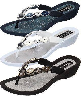 8c2ca1d20ef9 Grandco Colored Diamond Pearl Thong Sandals - 27460