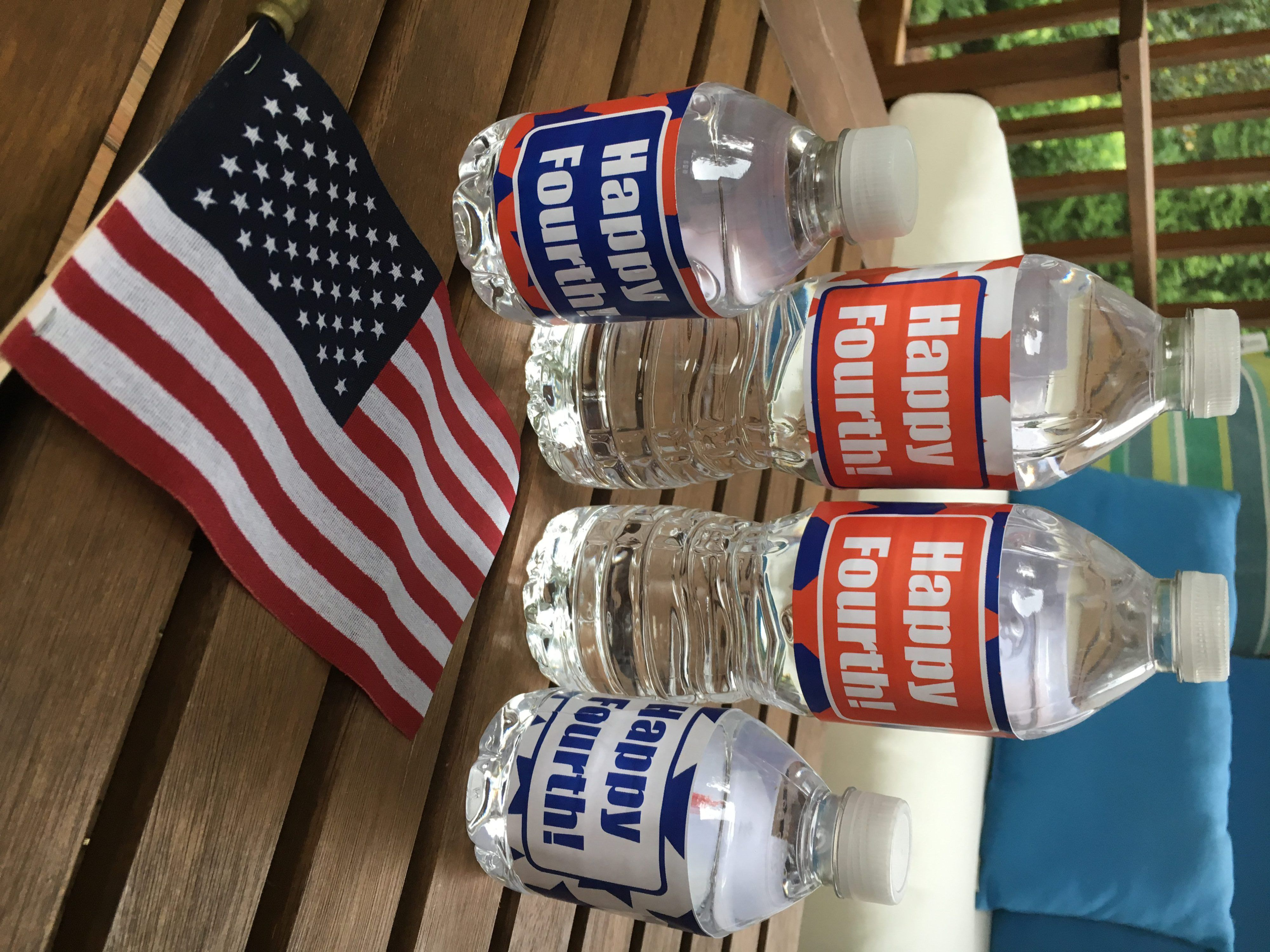 Fourth of July Water Bottle Labels