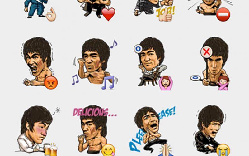 Aufkleber Sticker Bruce Lee