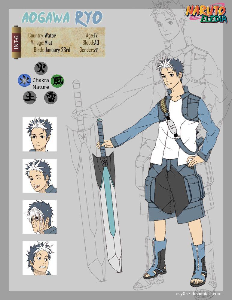Aogawa Ryo v2 by osy057 Guerreiro anime, Naruto mangá