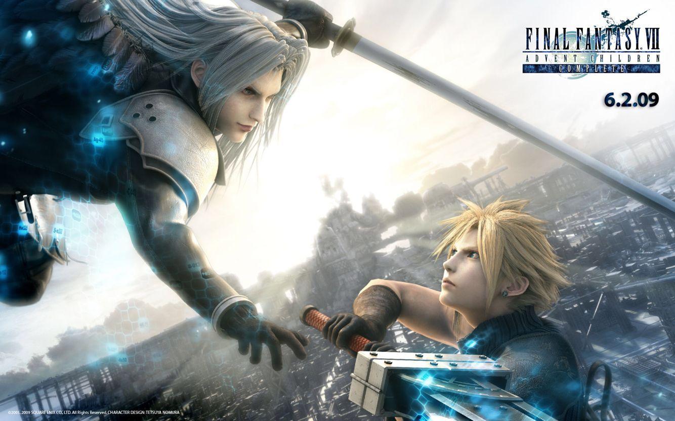 Cloud Vs Sephiroth Final Fantasy Advent Children Final Fantasy Vii