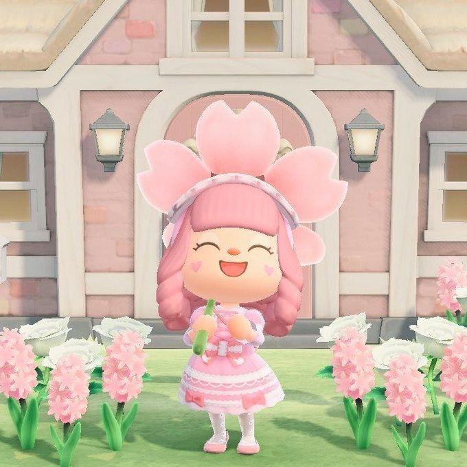 """Kawaii Pink Animal Crossing Female!""""💕💫 in 2020   Animal ..."""