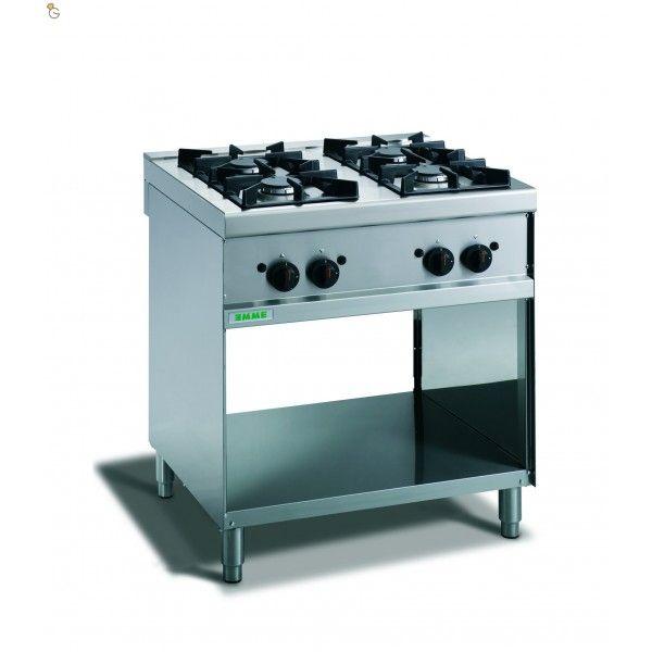 Cucina a gas quattro fuochi con vano aperto Gamma dal ...