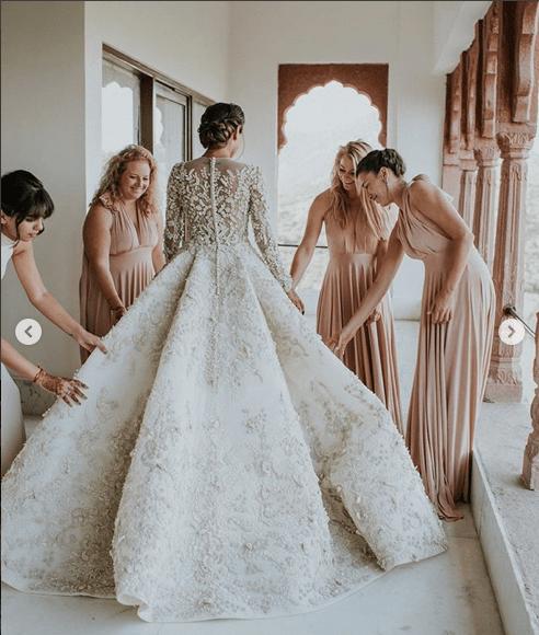 Gorgeous White And Gold Wedding Lehenga Gold Lace Wedding Dress Gowns Indian Wedding Dress