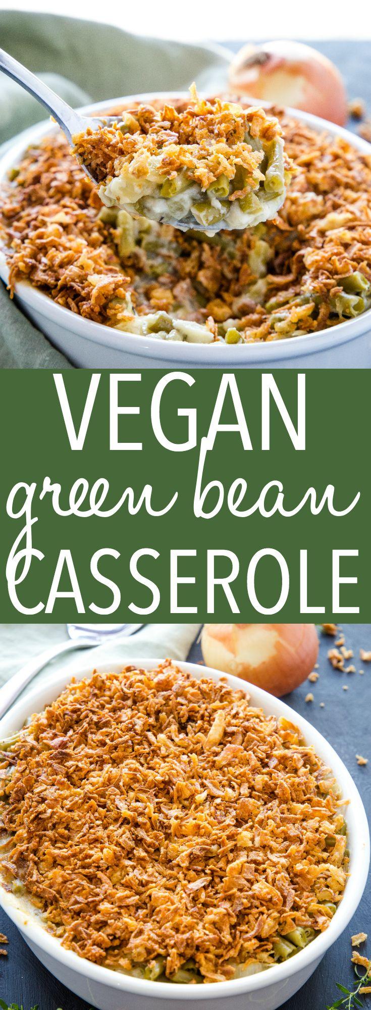 Easy Vegan Green Bean Casserole images