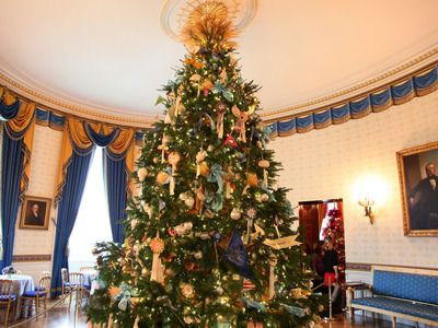 Decorating the White House for Christmas Christmas tree and