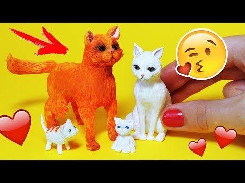 Una Miniatura De Gato Accesorios DIY Mascotas para las muñecas AnnaOriona - YouTube