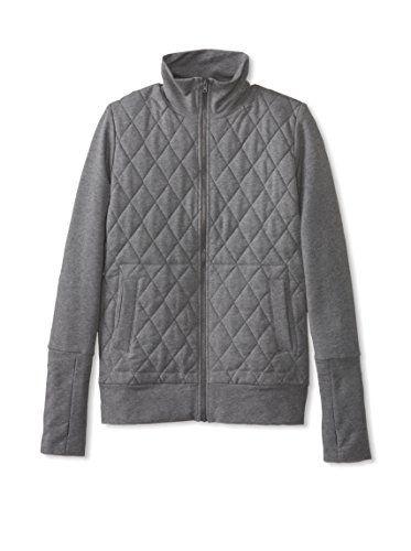Norma Kamali Sweats Women's Quilted Turtleneck Zip Jacket