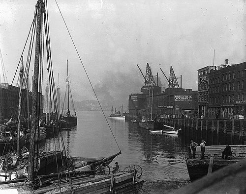 Ship at foot of King Street, St. John, NB, 1915--vintage everyday: Old Photographs of Canada from 1858-1935