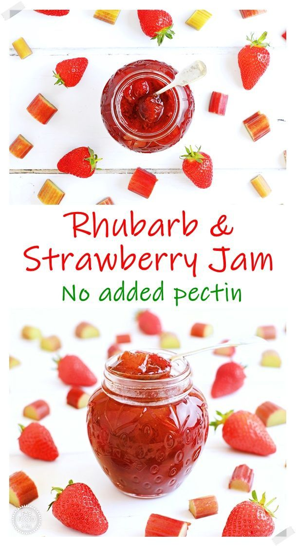 Rhubarb Strawberry Jam A Delicious No Pectin Jam Fab Food 4 All In 2020 Rhubarb Jam Recipes Jelly Recipes Easy Jam Recipe